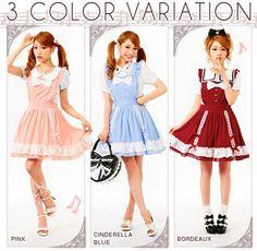 Kawaii fashion ruffle female cook lolita dress with big front bowknot $33.99 Retro cute kawaii soft sister lolita dress on sale,cosplay style sleeveless dress,high quality. Sizes:M(skirt length 46cm);L(skirt length 47cm);(skirt length 48cm). Colors:sky blue,wine red,orange. Fabric:chiffon. Style:sweet college. Dabu_lady store
