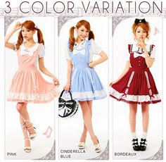 Kawaii fashion ruffle female cook lolita dress with big front bowknot $33.99 Retro cute kawaii soft sister lolita dress on sale,cosplay style sleeveless dress,high quality. Sizes:M(skirt length 46cm);L(skirt length 47cm);(skirt length 48cm). Colors:sky blue,wine red,orange. Fabric:chiffon. Style:sweet college. Dabu_lady store