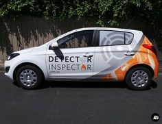 Hyundai i20, Vehicle Wrap, Detector Inspector, Fleet Graphics