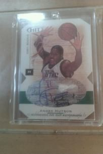 Andre Hutson NCAA Michigan State Signed Sage HIT 2001 Rookie Authentic Die Cut Autograph LE.