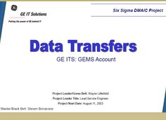 Data Transfers Six Sigma Case Study