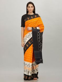 New Hand Block Printed Mulmul Cotton Sarees from Stf Store Ikkat Silk Sarees, Cotton Saree, Types Of Fashion Styles, Black Cotton, Sari, Saree Blouse, Trendy Fashion, Pure Products, How To Wear