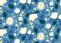 Floral Patterns by Zoe Keller, via Behance