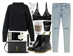 """some things are gonna end"" by velvet-ears ❤ liked on Polyvore featuring Zara, Isabel Marant, Dr. Martens, Pamela Love, Monki, Yves Saint Laurent and NARS Cosmetics"