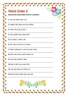 Word Order 2 worksheet - Free ESL printable worksheets made by teachers