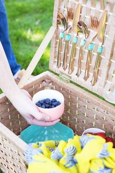 Turn a plain basket into a picnic basket you'll use all summer.
