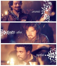 The Musketeers - Aramis, Athos & Porthos