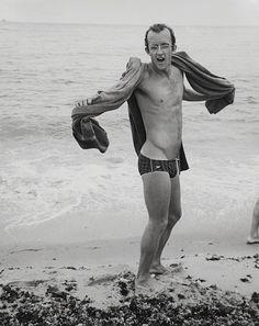 Keith Haring at the beach - 1984 American artist and social activist