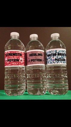 Minecraft Potion Drink Labels Customized Minecraft Labels Instant download PDF Minecraft Party by MinecraftPartySolved I would get food coloring and look at the potions on minecraft and try to make it look the same