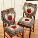 Decorate your home and kitchen in an apple decor start out with these apple kitchen chair cushions and add some of these other favorite apple