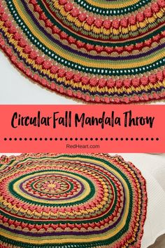 Enjoy starting at the center and crochet a wonderful texture of stitches in exuberant colors. We love the fall shades, but it would be equally stunning in the palette of your choice.