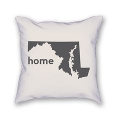 "The Maryland Pillow is an 18""x18"" pillow showing off your home state! The pillow is already stuffed and ready to be displayed."