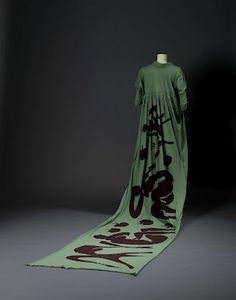 6. Woman's toga dress printed with Henri Matisse's Femmes et singes.  Designed by Vivienne Westwood (b.1941)Silk-screened machine knit cotton,  England (London) 1982 – 1983 (2004.125.1)