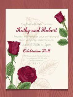 Paper invitation for Wedding