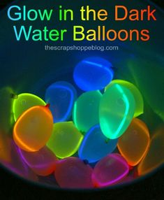 How to make glow in the dark water balloons! Fun idea for any party!