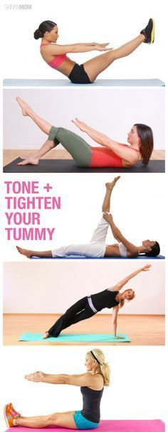 Pilates moves for a flatter stomach- must try!