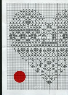 Bleu_de_Chine_ cuore punto croce/ could also be done in knitting or tapestry crochet