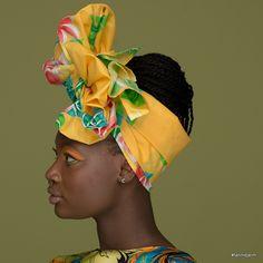 CELIA,this floral head wrap is named after famous, powerful Cuban singer Celia Cruz via Fanm Djanm.