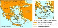 Localización de la Atlántida en el mar Egeo
