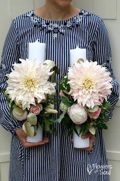 Flowers of Soul: Lumanari de cununie Wedding Inspiration, Wedding Ideas, Christmas Centerpieces, Weeding, Nasa, Floral Arrangements, Candle Holders, Candles, Table Decorations