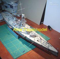 [Alice papermodel] Long 90CM 1:250 SMS Derfflinger Ironclads Battleship warship battlecruiser models