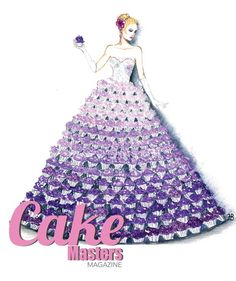 Cupcake Dress Original sketch design for Cake Masters Magazine Cake Masters Cupcake Dress