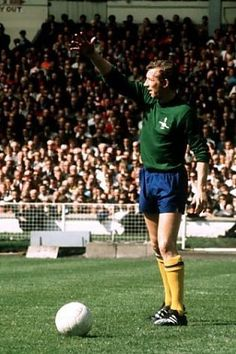 Arsenal goalkeeper Bob Wilson in action at the 1971 FA Cup Final.