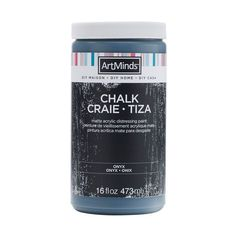 Art Minds DIY Home Chalk Distressing Paint by ArtMinds, 16oz. in Onyx