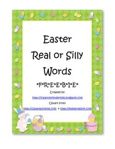 Students read word cards and decide if the word is real or silly. Students sort word cards into the included headers. Student worksheet is also pro...
