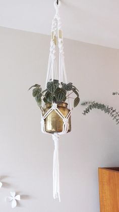 This piece of art is a real trendy find that will suspend your favorite greenery with style! It also brightens up a blank wall or empty corner of your