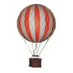 Amazon.com: Authentic Models Floating the Skies Hot Air Balloon Replica, Color: Red: Home & Kitchen