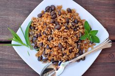 Love her tip: Cook brown rice and black beans in large batches (because they take so long). Freeze in bags, 1 cup each (or whatever would be appropriate for your family). Now you have quick and ready HEALTHY side dishes on a week night.