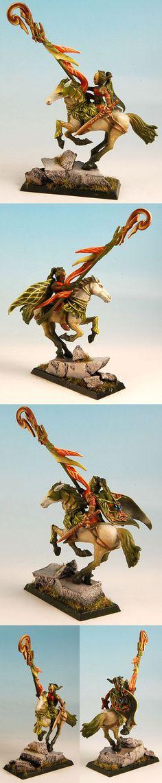 Warhammer Wood Elves Lord, dappled horse