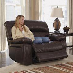 Damacio Leather Recliner in Dark Brown | Nebraska Furniture Mart