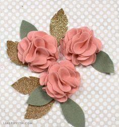 DIY Felt Flower Poms
