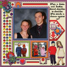 While this is a themed kit geared for the BIG Brother/Sister organization, however, there is plenty in this kit for everyday scrapping. I love all of the bright colors in this great kit I used it to scrap photos of my Daughter and Son.  The Bigs Kit by MDD Designs http://www.godigitalscrapbooking.com/shop/index.php?main_page=product_dnld_info&cPath=29_464&products_id=32722  Bohemian Style2 templates by LissyKay Designs(releasing soon)…
