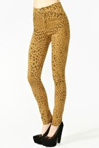 Second Skin Jeans - Leopard