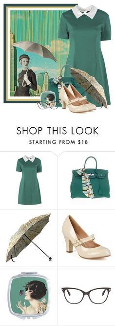 """Rainy Day in the City"" by lulurose98 ❤ liked on Polyvore featuring Hermès, Journee Collection and Tom Ford"