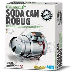 Boy Gift: Soda Can Robug. Create a bug out of a recycled soda can. It even moves across the floor when you turn it on!