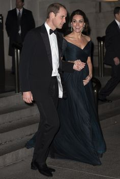 Prince William, Duke of Cambridge and Catherine, Duchess of Cambridge leave the St. Andrews 600th Anniversary Dinner at the Metropolitan Museum of Art on December 9, 2014 in New York City.
