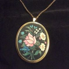 Vintage Floral Pendant Long Necklace! cute! Vintage Floral long necklace beautiful design 20 inches If you have any questions feel free to ask!  Thanks for looking! Make an offer! BUNDLE 3 items in my Closet and receive 30% off at Checkout All purchases Come with a surprise gift! Thanks for shopping Posh!  Avon Jewelry Necklaces