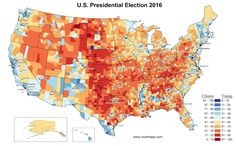 2016 U.S. presidential election results in three maps