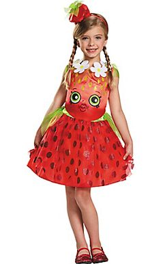 Little Girls Strawberry Kiss Costume - Shopkins