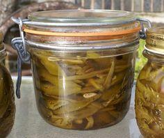 Pickled Runner Beans