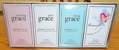 Philosophy 4 pc Fragrance Set Grace Amazing + Pure + Living  & Loveswept Limited #philosophy