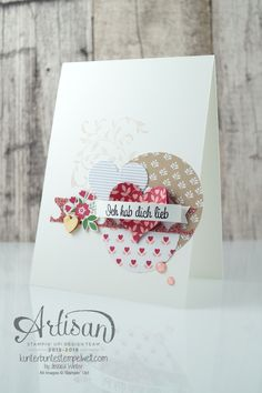 Valentine Card made with First Sight, Blushing Bride Glimmer Paper and Love Blossom DSP Pack - Jessica Winter