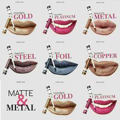 Mate&Metal  Que tono prefieres!!  Prueba los y Enamoraré #Marykay #Mate&Metal