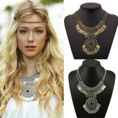 BoHo Silver Necklace Costume Jewelry Necklaces