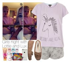 """""""Sin título #317"""" by fryslove ❤ liked on Polyvore featuring Topshop, UGG Australia, Victoria's Secret and Forever 21"""