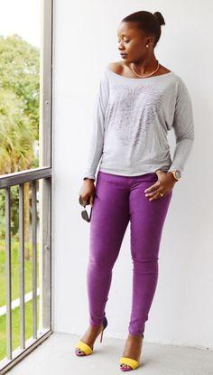 Sevenly :: Sweater & Purple Jeans